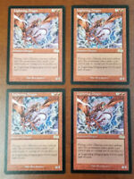 4x Lightning Dragon Urza's Saga NM/LP MTG Magic the Gathering Urzas English