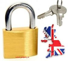 MINI BRASS TRAVEL PADLOCK 20MM BAGGAGE/LOCKER/CUPBOARD/SHED/HOLIDAY/GYM/SECURITY