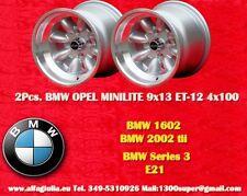 2 Cerchi BMW Volkswagen Minilite 9x13 ET-12 4x100 Wheels Felgen Llantas Jantes