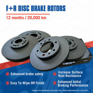 Front + Rear Disc Brake Rotors for Hummer H3 3.7L 06-on Premium Quality