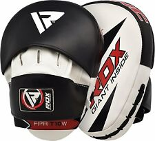 RDX Curved Focus Pads Kick Boxing Punching Hook & Jab MMA Mitts Black
