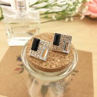 1 Pair Fashion Women Jewelry Elegant Crystal Rhinestone Ear Stud Earrings Gift