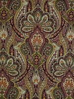 "Raymond Waites Myesha Garnet and Gold Drapery Upholstery Fabric 54"" Wide New"
