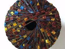 Di.Ve Scaletta Mini Ladder Ribbon Yarn #24271 Summer - Brown Yellow Blue 25g 65y