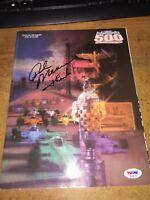1988 Indy 500 Program Autographed by winner Rick Mears! PSA/DNA Cert! Rare!
