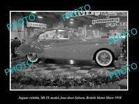 OLD LARGE HISTORIC PHOTO OF 1958 JAGUAR Mk IX MODEL BRITISH MOTOR SHOW DISPLAY
