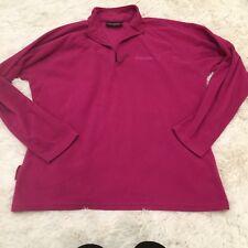 Women's MOUNTAIN WAREHOUSE Magenta Pullover Fleece Stretch 1/2 Zip Sweater - 16