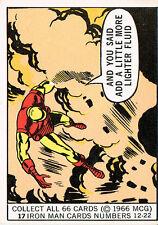 MARVEL SUPER HEROES 1966 DONRUSS CARD NUMBER 17 EX