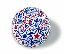 Fun Red White Blue Independence Day 4th of July LED Light Up Plastic Beach Ball