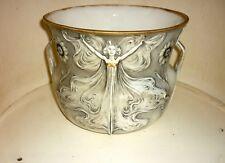 Superbe cache pot Art Nouveau porcelaine d'art  Maison Ragot Médaille d'or XIX