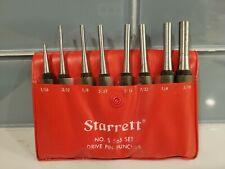 Starrett S565 Steel Drive Pin Punch Set