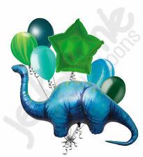 7 pc Apatosaurus Dinosaur Happy Birthday Balloon Bouquet Party Decoration Dino