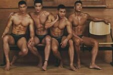 Shirtless Male Beefcake Muscular Body Asian Hunks Guys PHOTO 4X6 F1946