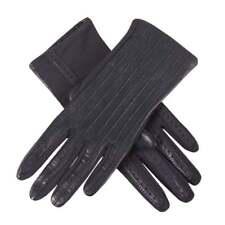 Dents Olivia Women's Leather & Elastane Driving Gloves NAVY