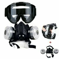 Half Face Gas Mask With Anti-fog Glasses Chemical Mask Filter Breathing Painting