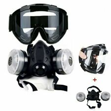Half Face Gas Mask With Anti Fog Glasses Chemical Mask Filter Breathing Painting