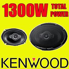 """Kenwood 6""""x9"""" 6x9 1300W 5-way Coche Trasero Altavoces Estante Oval De Cubierta, Nuevo Par"""