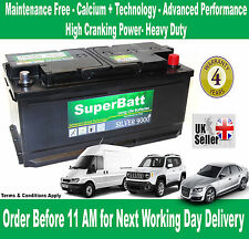 AUDI, BMW, CHRYSLER, FORD, JAGUAR, JEEP, LAND ROVER Car Battery -SuperBatt 019