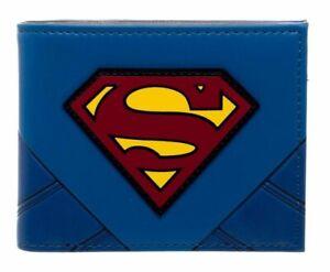 DC Comics Superman Logo Blue Men's Bifold Wallet