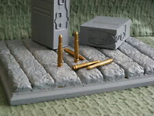 1/6 scale 2 cm 20mm German Flak rounds Solid Brass H.E. round lot of 5