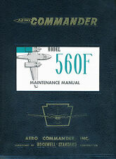 AERO COMMANDER ( ROCKWELL ) 560F MAINTENANCE MANUAL - 1961