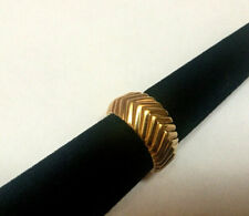 Tiffany & Co. 18k Yellow Gold Ribbed Dome Style Band Ring Size 6.75