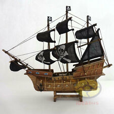 "WOOD MODEL 13""length PIRATE SHIP Sailing Boat Corsair Tall Ship Nautical decor"