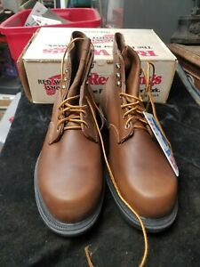 """RED WING Shoes Model 952 USA Made 6"""" Brown Leather Boots NIB Supersole E"""