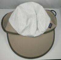 Patagonia Mesh Sun Hat Size M - Neck Flap Duckbill Khaki Fisherman Hiking Biking