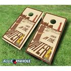 AJJCornhole 107-ToesInTheWater Toes In The Water Theme Cornhole Set with Bags...