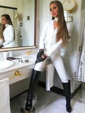 Leder Catsuit Overall Ledercatsuit Weiß Maßanfertigung