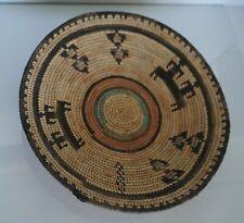 Vintage Native American African Basket Polychrome Exceptional Design