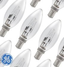 GE 30W=40W ECO HALOGEN DIMMABLE CANDLE SES E14 PACK OF 10