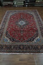 Traditional Semi Antique Red Wool Kashan Persian Oriental Area Rug Carpet 10X13