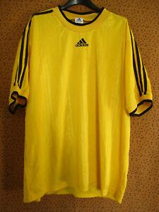 Maillot Adidas vintage Jaune et noir Jersey 90'S Football Rétro Polyester - XL
