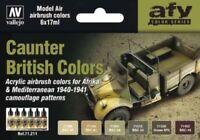 VAL71211  AV Vallejo Model Air Set British Caunter Colors 1940-41 Airbush Paint