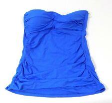 Anne Cole Signature Size Small S Tankini Strapless Top Blue Retail $54
