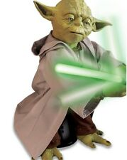 Star Wars Jedi Yoda Motorized Movement Speaks 115 Phrases Light Up Toy