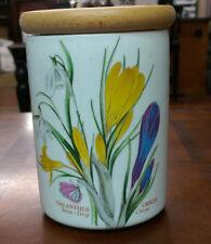 "Portmeirion Botanic Garden Storage Jar 5.5"" tall with Lid (Snow-Drop Crocus)"