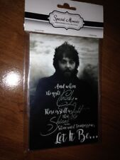 """THE BEATLES - """"LET IT BE"""" PRINT IN 4X6 ACRYLIC MAGNETIC FRAME"""