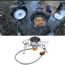 Portable Mini Wind-proof Camping Gas Stove Outdoor Cooking Burner+Case 2 Mode