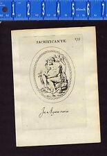 Sacrifice, Knife, Goats - Leonardo Agostini-Battista -1685 Engraving