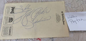 Walter Payton Sweetness Signed Autographed Holiday Inn South Bend Indiana
