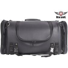Large Motorcycle Heavy-Duty PVC Sissy Bar Roll Bag / Travel Trunk w/ Rain Cover