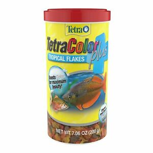 TetraColor Plus Tropical Flakes 7.06 Ounces, With Natural Color Enhancers (77...