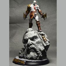 God Of War 3 Kratos on Zeus Head Resin FIGURE Statue Fans Collection 26cm