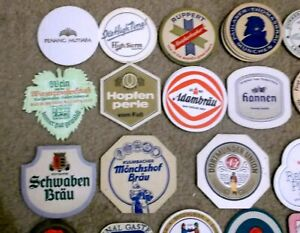 European Mixed shape BEER and WINE Coasters 34 Brands German