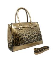 Designer Tote Leopard Prints Buckle Shine Ladies Handbag