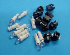 Honda 10 White Dome LEDs Sockets Dashboard Instrument Panel Lights Bulbs NOS