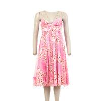 DIANE VON FURSTENBERG Dress Pink White Silk Blend Size 4 / UK 8 BW 110